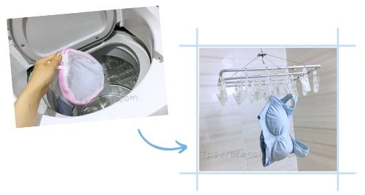 ヴィアージュ洗濯乾燥方法