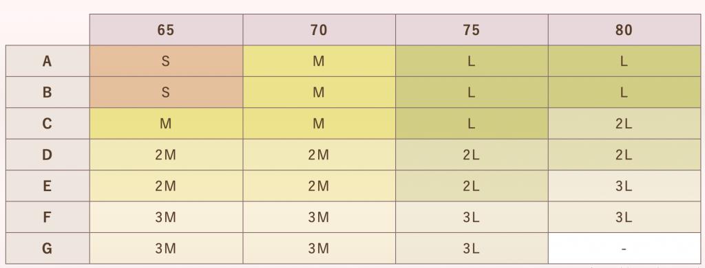 ルルクシェルサイズ表